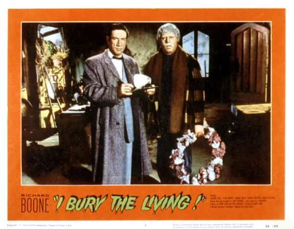 I BURY THE LIVING, Richard Boone, Theodore Bikel, 1958