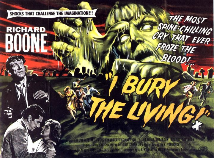 I BURY THE LIVING (1958) poster