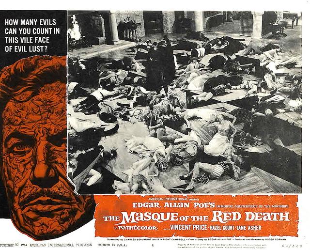 Masque of the Red Death lobby card (Dir. Corman)