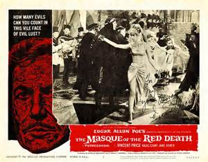 Masque of the Red Death lobby card . Vincent Price