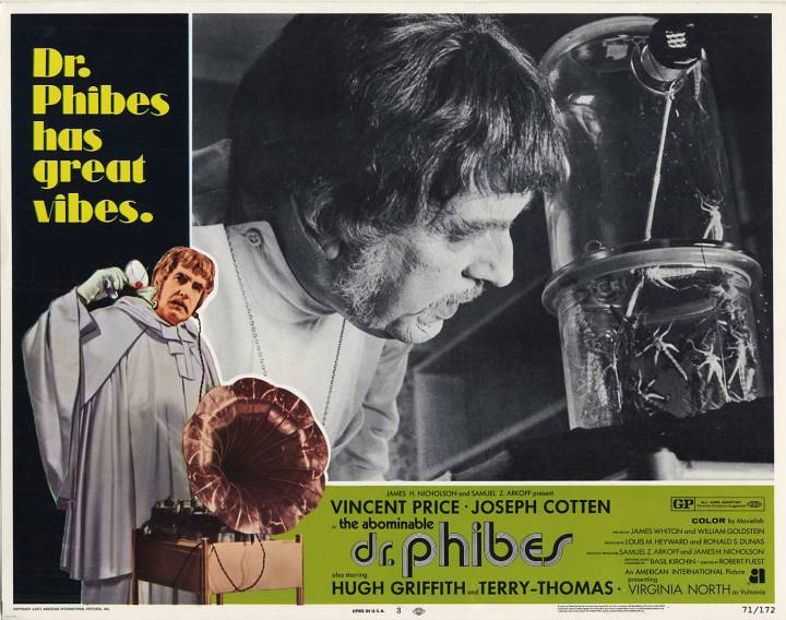 THE ABOMINABLE DR. PHIBES lobby card