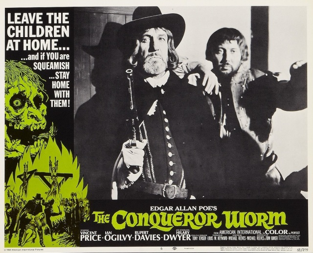 THE CONQUEROR WORM lobby card (Michael Reeves) Vincent Price