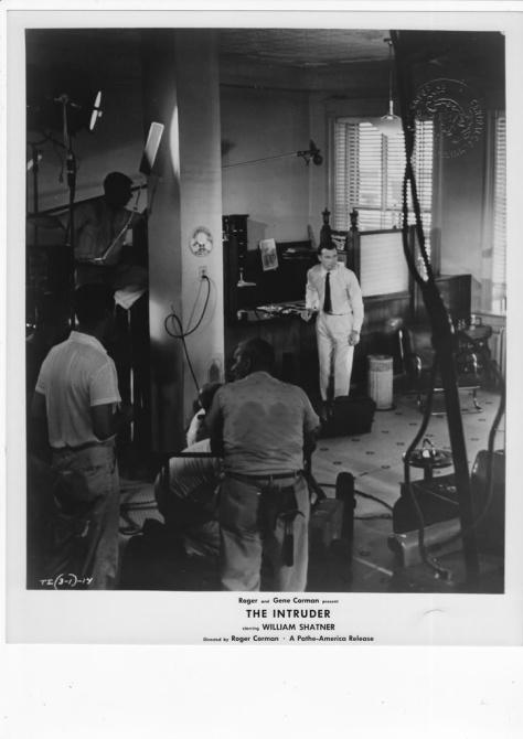 THE INTRUDER (1962) lobby card. William Shatner