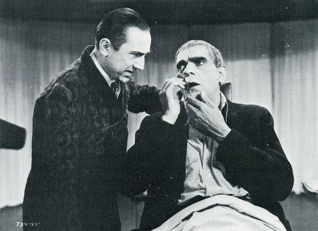 THE RAVEN 1935 BELA LUGOSI AND BROIS KARLOFF