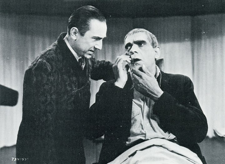 THE RAVEN 1935 BELA LUGOSI AND BROIS KARLOFF