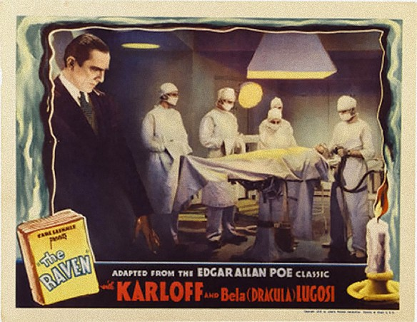 THE RAVEN (1935) BELA LUGOSI lobby card
