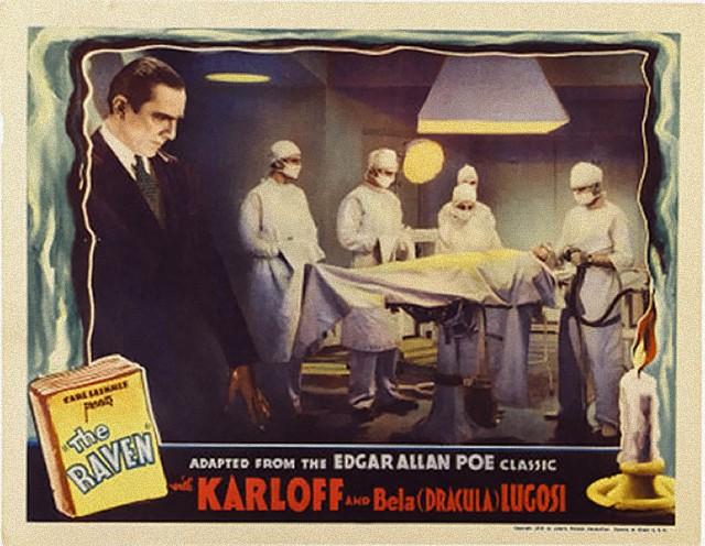 THE RAVEN (1935) BELA LUGOSI lobby card