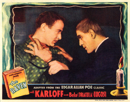 THE RAVEN 1935 LOBBY CARD KARLOFF