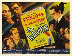 THE RAVEN 1935 POSTER. KARLOFF LUGOSI