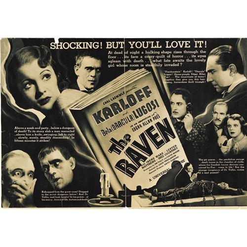 THE RAVEN 1935 PROMO AD