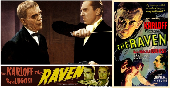 THE RAVEN 1935 PROMOS INCLUDING LOBBY CARD
