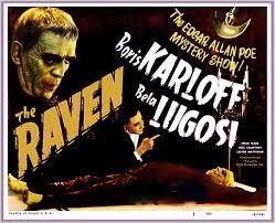 THE RAVEN . KARLOFF LUGOSI 1935 LOBBY CARD
