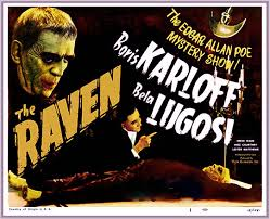 THE RAVEN . KARLOFF LUGOSI 1935 LOBBY CARD