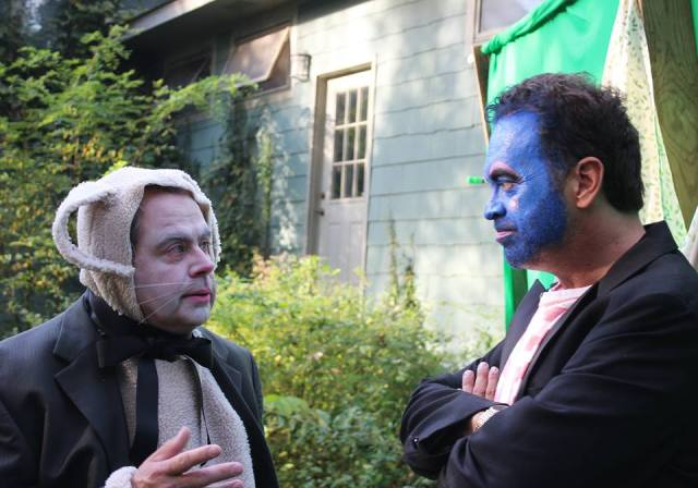 UNREQUITED WEDDING SCENE SHOOT  DENNIS FORKLE AS MARCH HARE AND ALFRED EAKER AS BLUEMAHLER