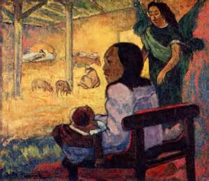 PAUL GAUGUIN THE NATIVITY