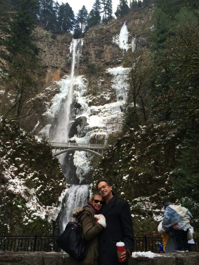Aja Rossman Gray Alfred Eaker waterfall