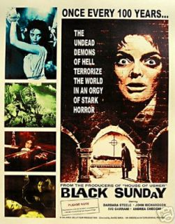 BLACK SUNDAY BARBARA STEEL MARIO BAVA LOBBY CARD