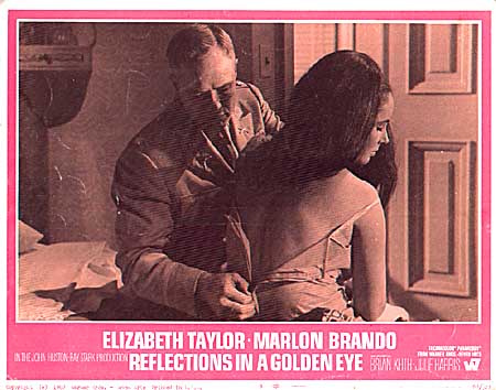 REFLECTIONS IN A GOLDEN EYE LOBBY CARD