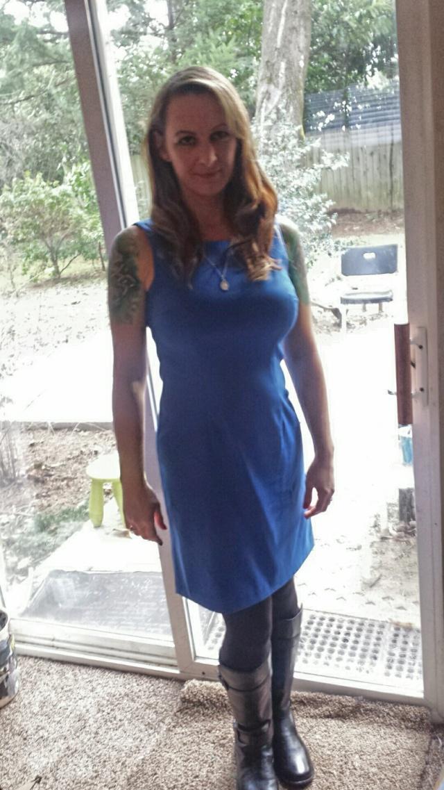 Aja Rossman Gray (blue dress)