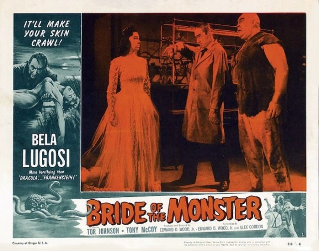 Bride of the Monster (1955 dir ED WOOD) Bela Lugosi, Tor Johnson