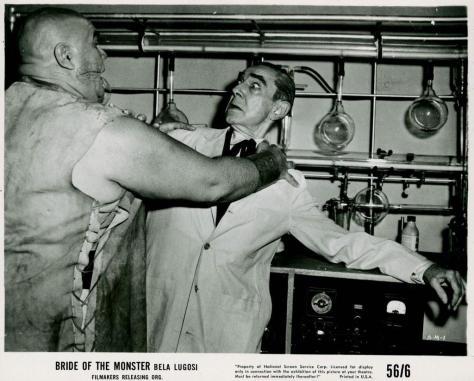 BRIDE OF THE MONSTER (1955 DIR. ED WOOD) Bela Lugosi, Tor Johnson