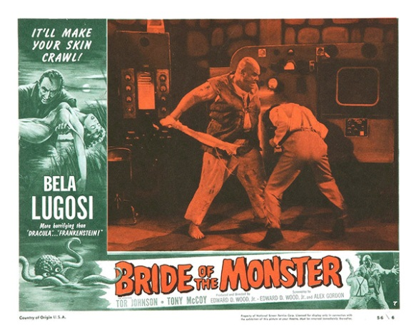 bride of the monster 1955 lobby card. ed wood