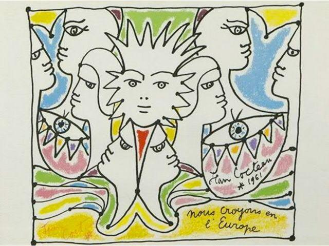 Jean Cocteau painting