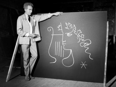 Jean Cocteau The Testament of Orpheas (1959) drawing