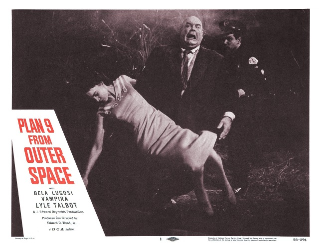 Plan 9 From Outer Space (lobby card) Ed Wood dir. 1959. Tor Johnson