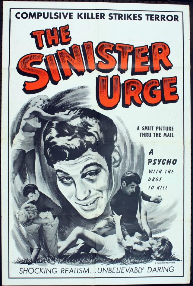 SINISTER URGE (ED WOOD) POSTER