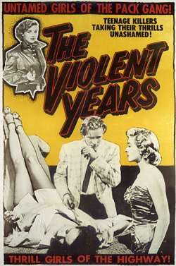 THE VIOLENT YEARS ED WOOD POSTER