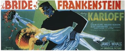BRIDE OF FRANKENSTEIN (1935) TEASER POSTER