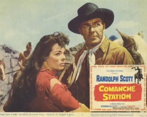 COMANCHE STATION LOBBY CARD Randolph Scott, Nancy Gates