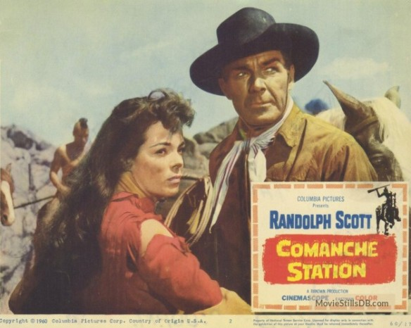COMANCHE STATION LOBBY CARD Randolph Scott, Nancy Gates