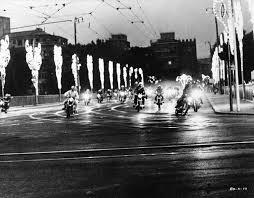 Fellini Roma (motorcycle scene bw)
