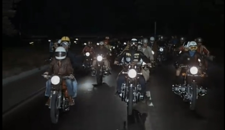 Fellini Roma (motorcycle  scene)