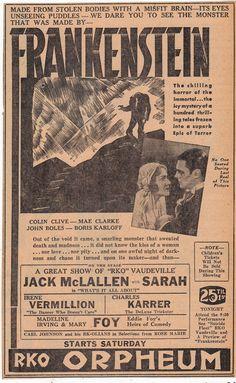 Frankenstein 1931 promo