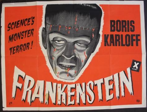 Frankenstein 1931 UK poster