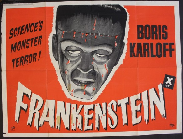 Frankenstein 1931 UK poster