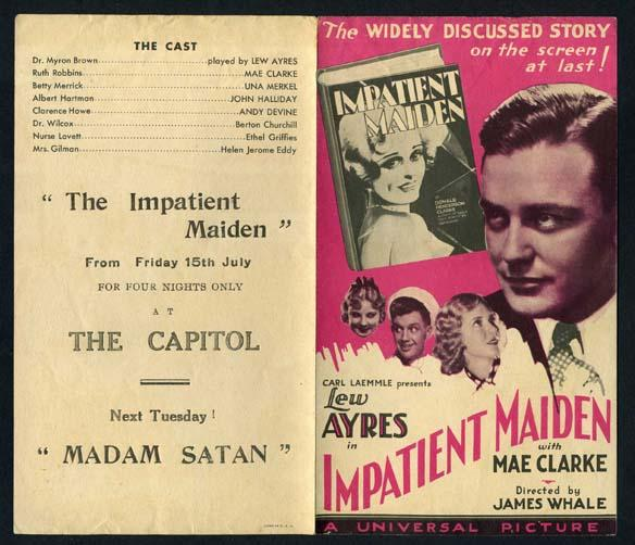 Impatient Maiden (James Whale) Mae Clark