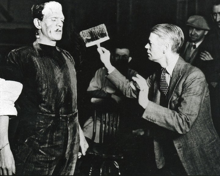 James Whale directing the Bride of Frankenstein