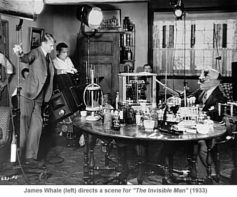 James Whale directing the Invisible Man 1933
