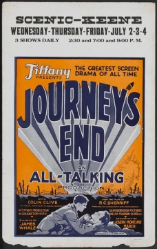 Journey's End (1930 James Whale) marquee promo