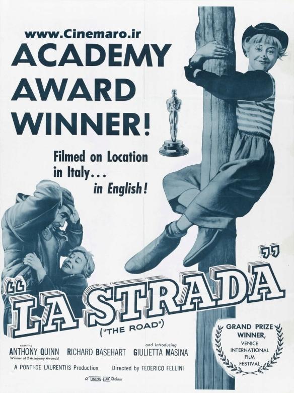 LA Strada 1954 poster. Fellini