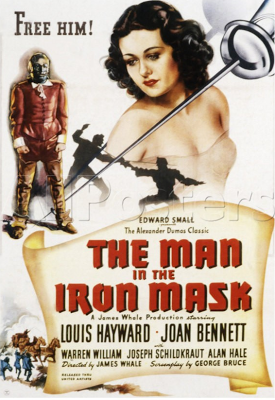 Man in the Iron Mask (1939) dir James Whale. poster