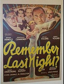 REMEMBER LAST NIGHT (1935 DIR. JAMES WHALE)