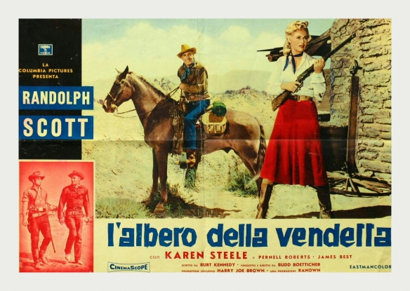Ride Lonesome (dir Boetticher) Randolph Scott lobby card