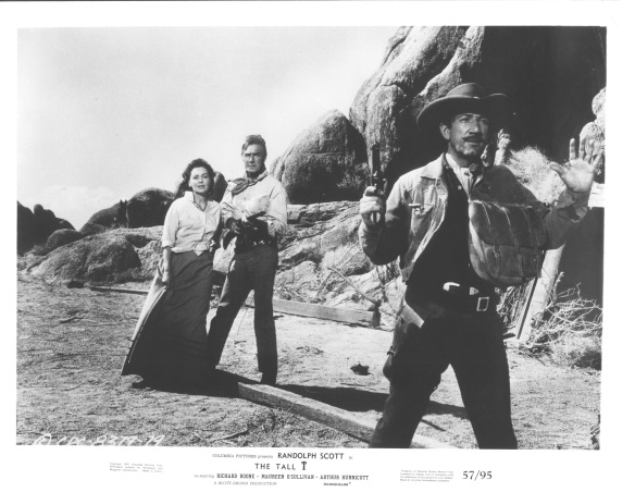 The Tall T (1957)  Randolph Scott lRichard Boone obby card
