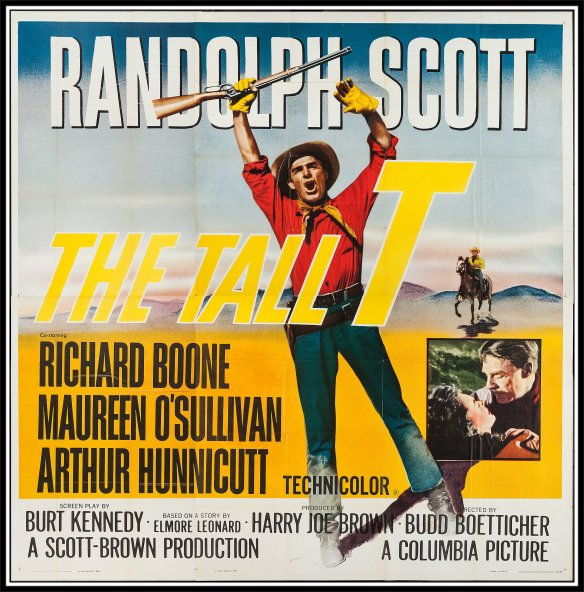 The Tall T (1957)  Randolph Scott poster