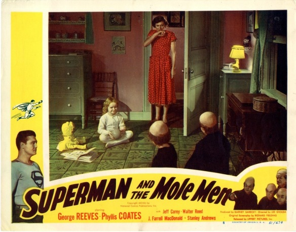 Superman And The Mole Men (1951) lobby card ad